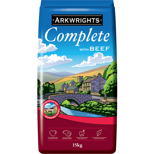 Arkwrights Complete Working Dog Beef 15 Kg (LOCAL DELIVERY ONLY)
