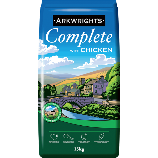 Arkwrights Complete Working Dog Chkn 15kg (LOCAL DELIVERY ONLY)
