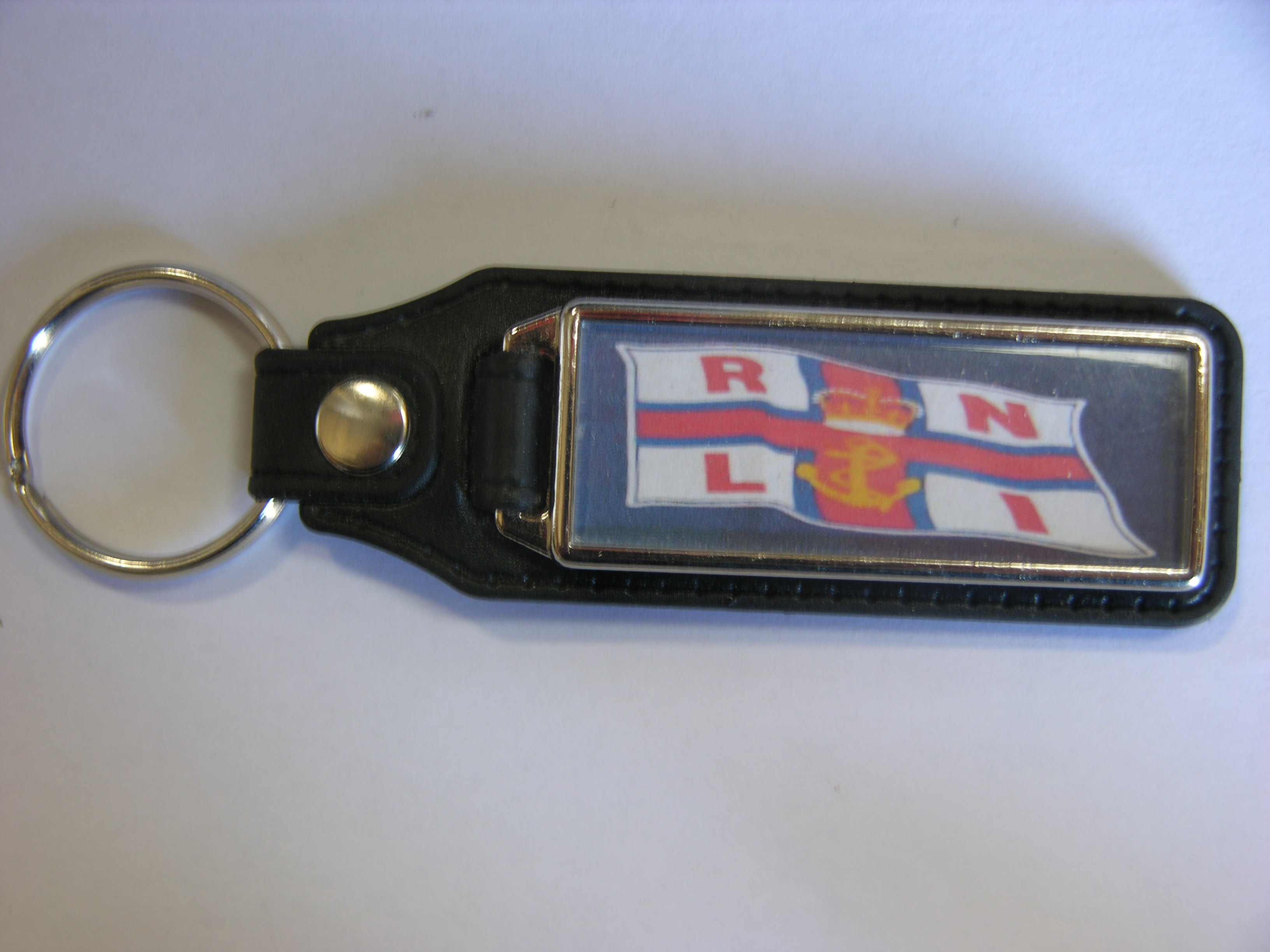Personalised Leather Backed Key Fob - Free Postage
