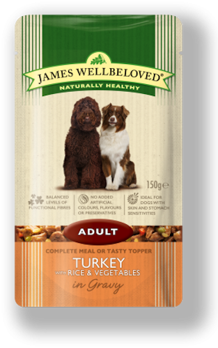 James Wellbeloved Adult Pouch Turkey & Rice 150g x 10
