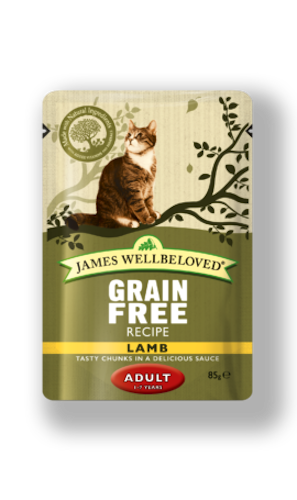 James Wellbeloved Cat Adult 12 x 85g Pouch Lamb Grain Free