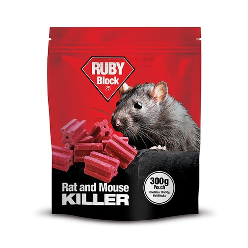 Ruby Block 300g Rat and Mouse Killer