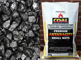 Anthracite coal (small) 25 Kg (LOCAL DELIVERY/PICK UP ONLY)