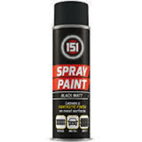 151 Spray Paint Black Matt 250ml