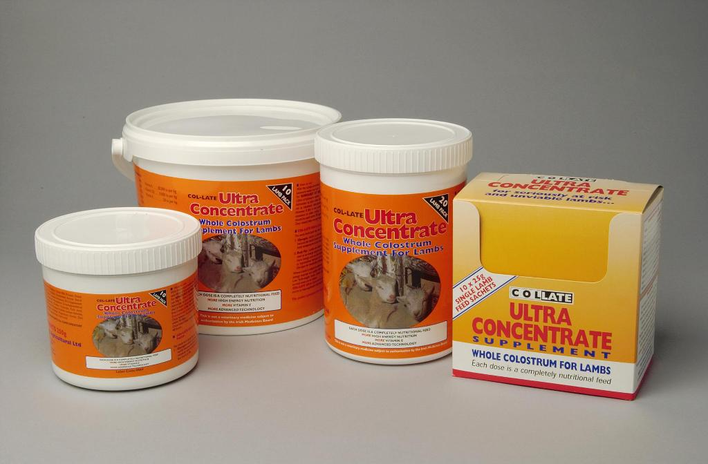 Collate Ultra Concentrate Whole Colostrum Lamb 10 x 25g Sacets