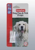 Beaphar Dog Flea & Tick Drops 2 Tubes