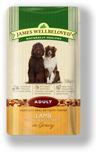 James Wellbeloved Adult Pouch Lamb & Rice 150g x 10