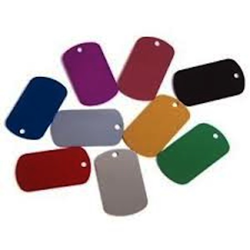 10 x Blank Military Shape 38mm Alloy Tags NO ENGRAVING
