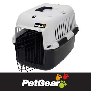 Pet Carrier Black & White by Petgear