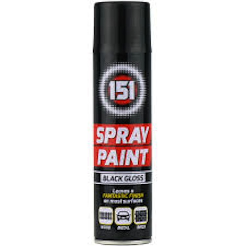 151 Spray Paint Black Gloss 250ml